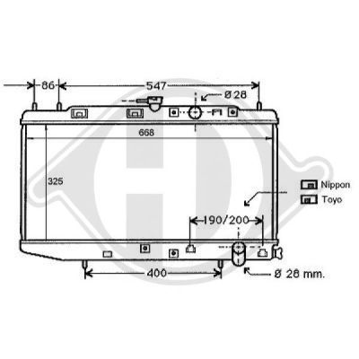 Radiateur, refroidissement du moteur - HDK-Germany - 77HDK8111115