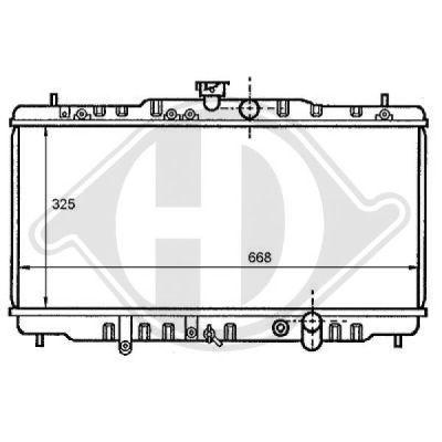 Radiateur, refroidissement du moteur - Diederichs Germany - 8111116