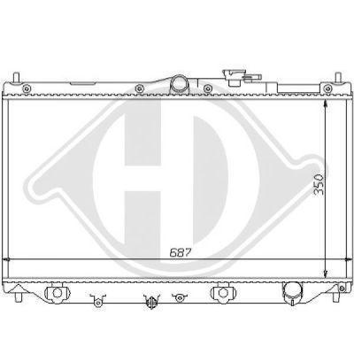 Radiateur, refroidissement du moteur - HDK-Germany - 77HDK8111120