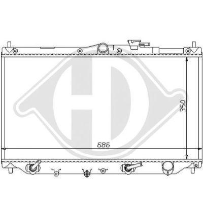 Radiateur, refroidissement du moteur - Diederichs Germany - 8111122