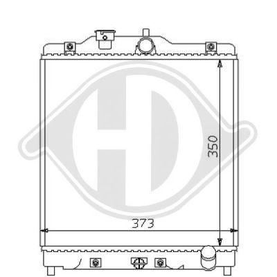 Radiateur, refroidissement du moteur - Diederichs Germany - 8111123