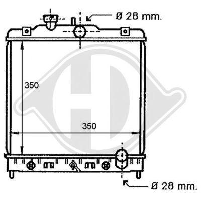 Radiateur, refroidissement du moteur - Diederichs Germany - 8111135