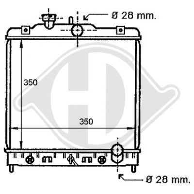 Radiateur, refroidissement du moteur - HDK-Germany - 77HDK8111135