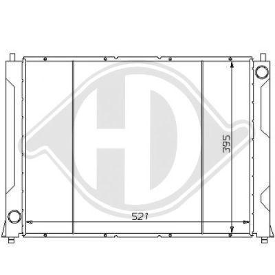 Radiateur, refroidissement du moteur - HDK-Germany - 77HDK8111137