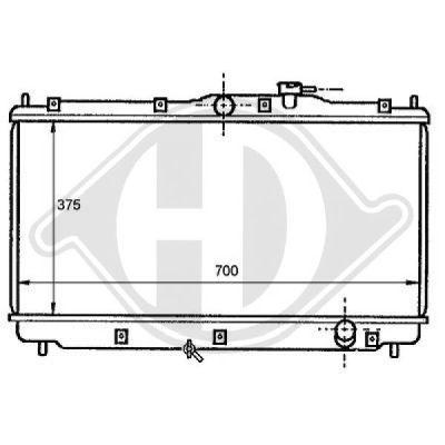 Radiateur, refroidissement du moteur - HDK-Germany - 77HDK8111141