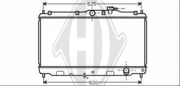 Radiateur, refroidissement du moteur - Diederichs Germany - 8111150