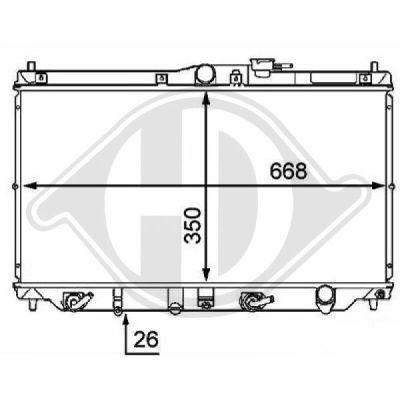 Radiateur, refroidissement du moteur - HDK-Germany - 77HDK8111151
