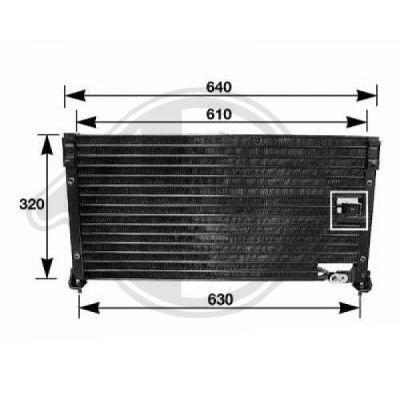 Condenseur, climatisation - Diederichs Germany - 8111152