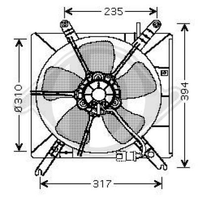 Ventilateur, refroidissement du moteur - Diederichs Germany - 8111153