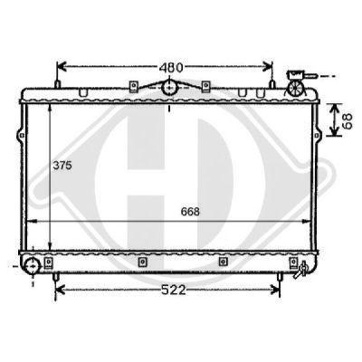 Radiateur, refroidissement du moteur - HDK-Germany - 77HDK8112100