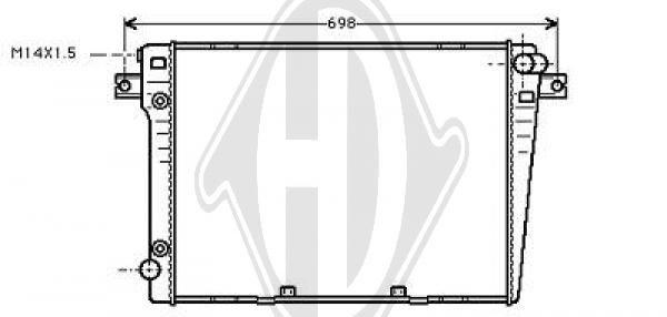 Radiateur, refroidissement du moteur - Diederichs Germany - 8112105