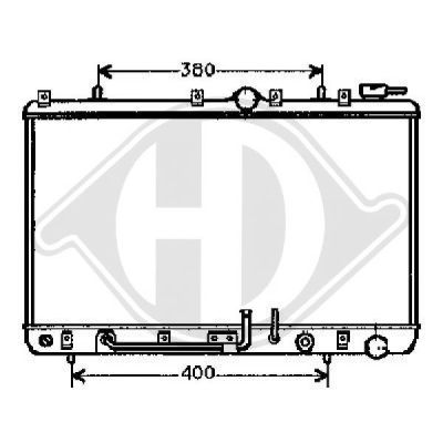 Radiateur, refroidissement du moteur - HDK-Germany - 77HDK8112106