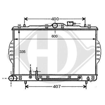 Radiateur, refroidissement du moteur - Diederichs Germany - 8112107