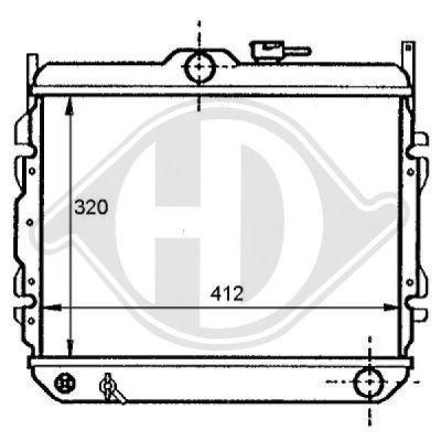 Radiateur, refroidissement du moteur - Diederichs Germany - 8112108