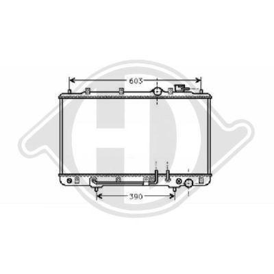 Radiateur, refroidissement du moteur - Diederichs Germany - 8112112