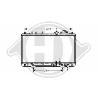Radiateur, refroidissement du moteur - Diederichs Germany - 8112113