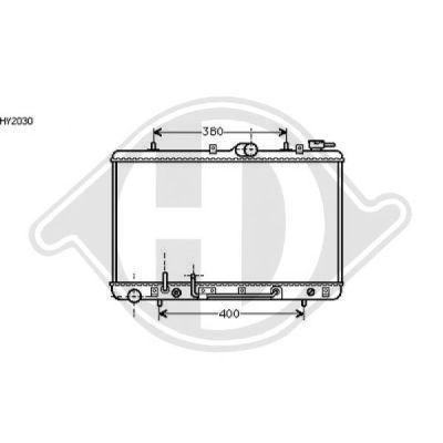 Radiateur, refroidissement du moteur - Diederichs Germany - 8112115