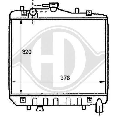 Radiateur, refroidissement du moteur - HDK-Germany - 77HDK8115100