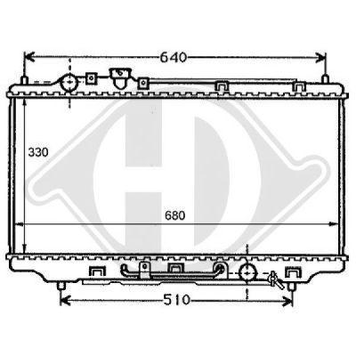 Radiateur, refroidissement du moteur - HDK-Germany - 77HDK8120101