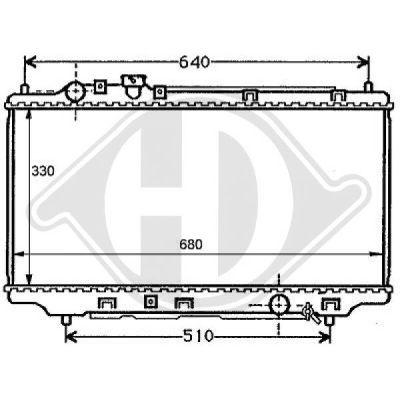 Radiateur, refroidissement du moteur - Diederichs Germany - 8120102