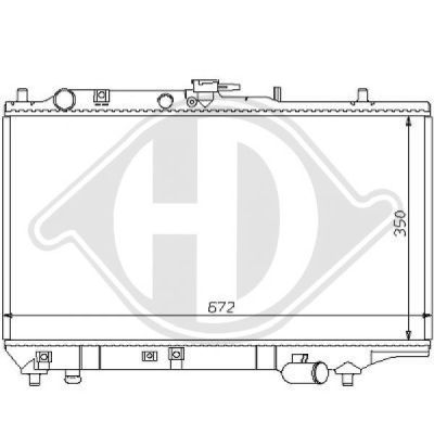 Radiateur, refroidissement du moteur - Diederichs Germany - 8120109
