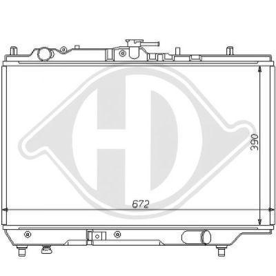 Radiateur, refroidissement du moteur - Diederichs Germany - 8120110