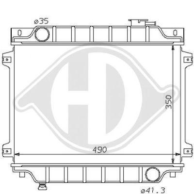 Radiateur, refroidissement du moteur - Diederichs Germany - 8120111