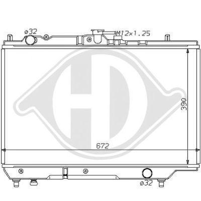 Radiateur, refroidissement du moteur - Diederichs Germany - 8120112