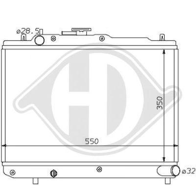 Radiateur, refroidissement du moteur - Diederichs Germany - 8120113