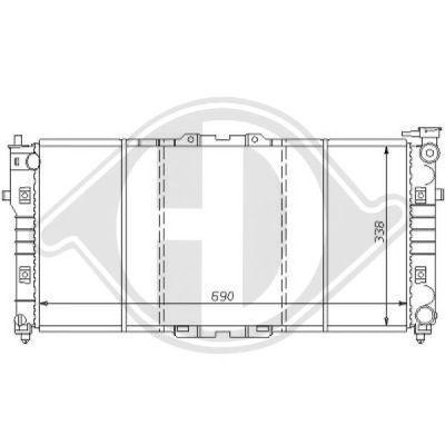 Radiateur, refroidissement du moteur - Diederichs Germany - 8120114
