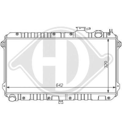 Radiateur, refroidissement du moteur - Diederichs Germany - 8120115
