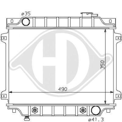 Radiateur, refroidissement du moteur - HDK-Germany - 77HDK8120116