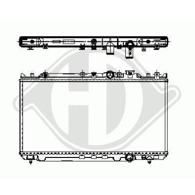 Radiateur, refroidissement du moteur - Diederichs Germany - 8120119