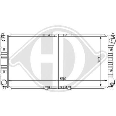 Radiateur, refroidissement du moteur - Diederichs Germany - 8120124