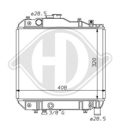Radiateur, refroidissement du moteur - Diederichs Germany - 8120131