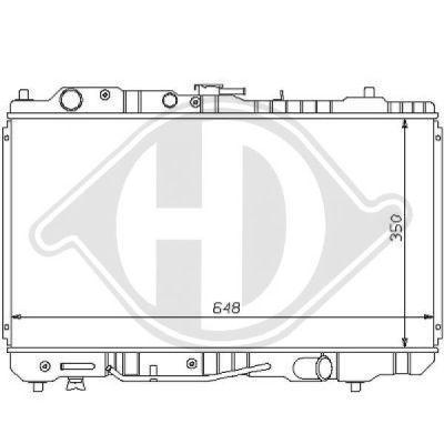 Radiateur, refroidissement du moteur - Diederichs Germany - 8120137