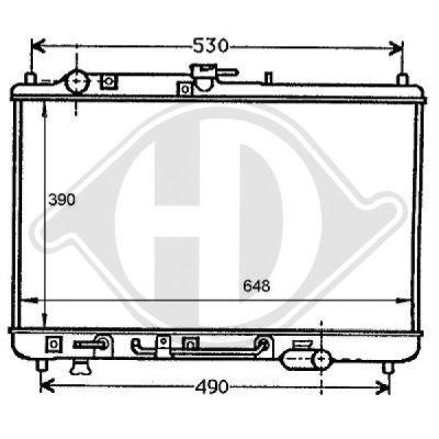 Radiateur, refroidissement du moteur - Diederichs Germany - 8120138