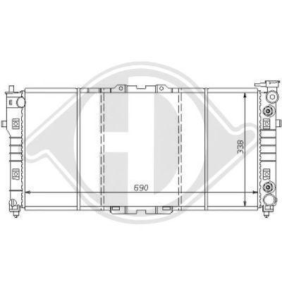 Radiateur, refroidissement du moteur - Diederichs Germany - 8120139