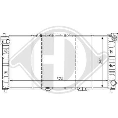 Radiateur, refroidissement du moteur - HDK-Germany - 77HDK8120147