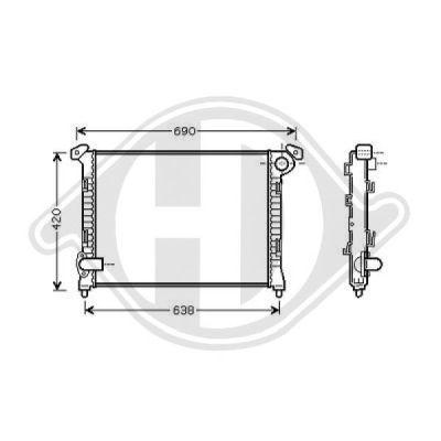 Radiateur, refroidissement du moteur - Diederichs Germany - 8120502