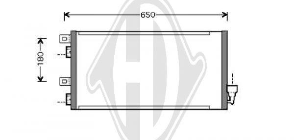 Condenseur, climatisation - Diederichs Germany - 8120503