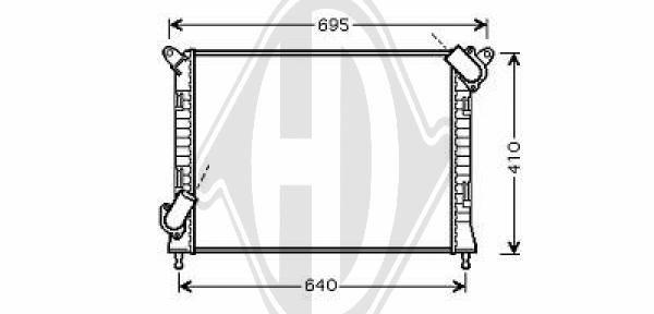 Radiateur, refroidissement du moteur - Diederichs Germany - 8120504