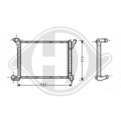 Radiateur, refroidissement du moteur - Diederichs Germany - 8120508