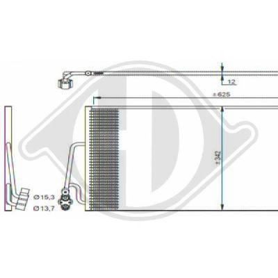 Condenseur, climatisation - Diederichs Germany - 8120600