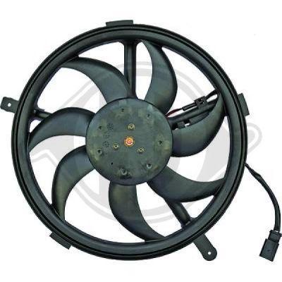Ventilateur, refroidissement du moteur - Diederichs Germany - 8120601