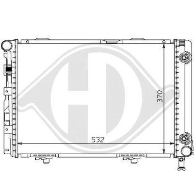 Radiateur, refroidissement du moteur - Diederichs Germany - 8121105