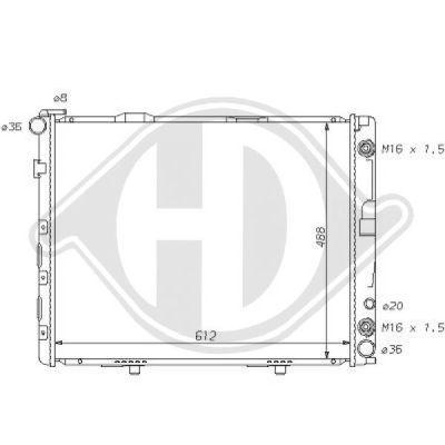 Radiateur, refroidissement du moteur - Diederichs Germany - 8121107