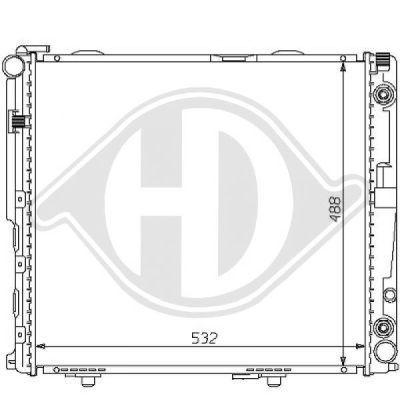 Radiateur, refroidissement du moteur - Diederichs Germany - 8121121