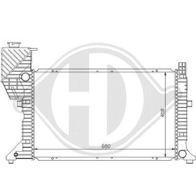 Radiateur, refroidissement du moteur - Diederichs Germany - 8121130