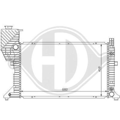 Radiateur, refroidissement du moteur - Diederichs Germany - 8121131